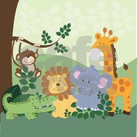 Jungle Safari Animals Shower Curtain Ad Sponsored Features