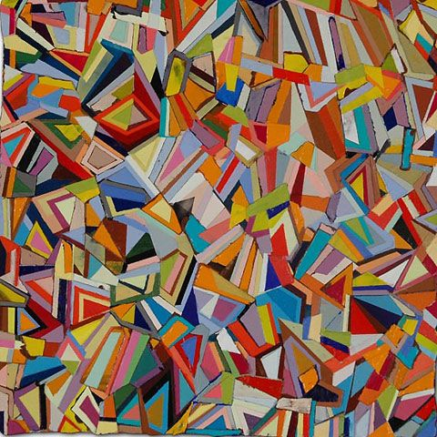 Famous geometric paintings paul yanko 2 geometric mixed for Artists who use shapes in their paintings