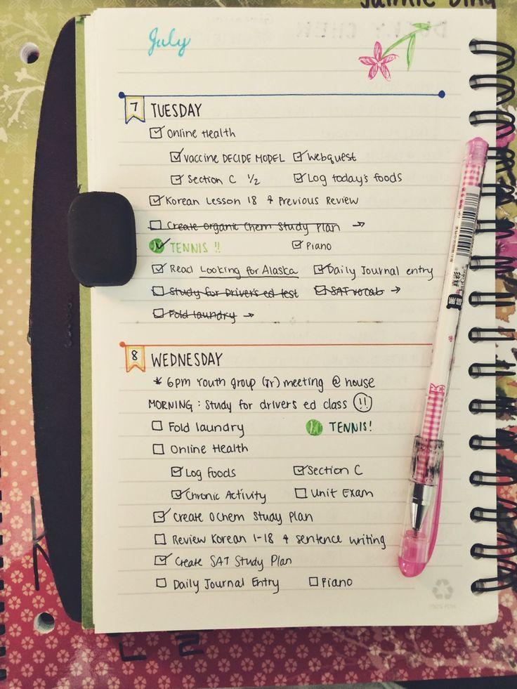 bullet — datstudylife: 7.08 // changed my bullet journal...
