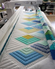 She uses a plexiglas plate to audition quilting.  Agree with her that sometimes less is better.
