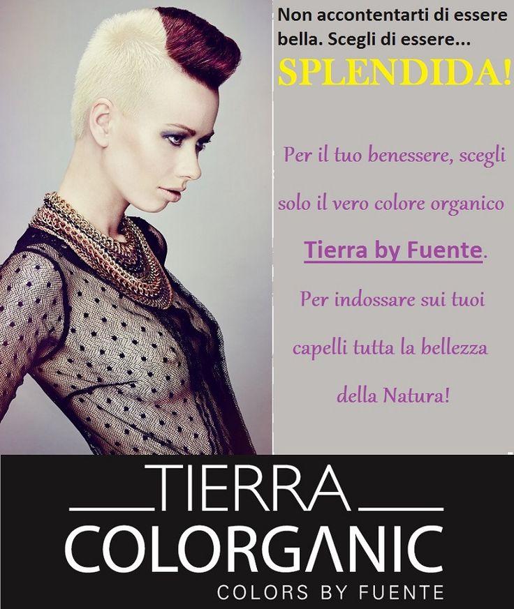 Perchè essere solamente bella, quando puoi essere splendida? Ti basta scegliere il Colore Organico Tierra by Fuente per far risplendere i tuoi capelli dei veri colori della Natura!