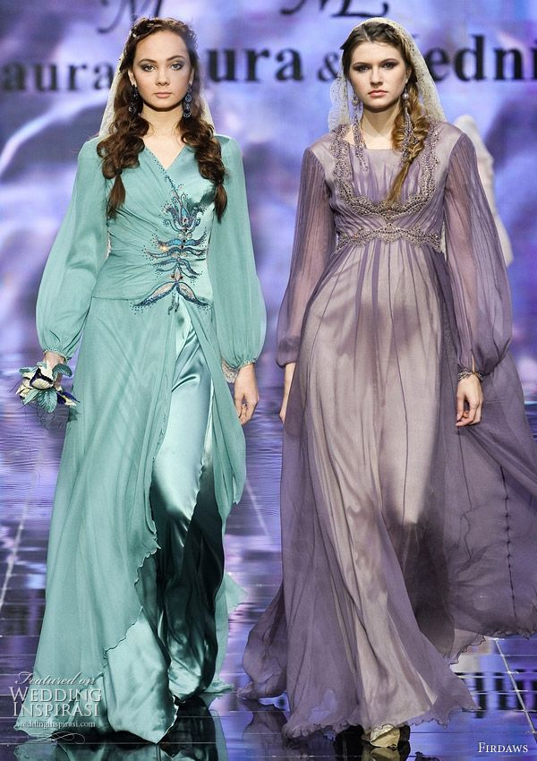 Long sleeve wedding gown inspiration for modest brides or hijab wearing muslimah sisters