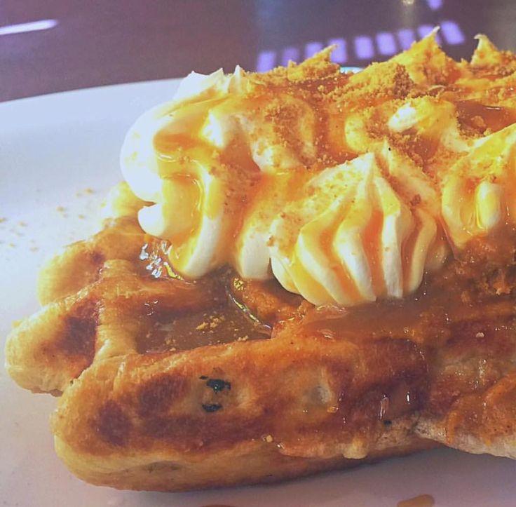 Pumpkin Spice Waffle. Waffle Hut, Klamath Falls, OR.
