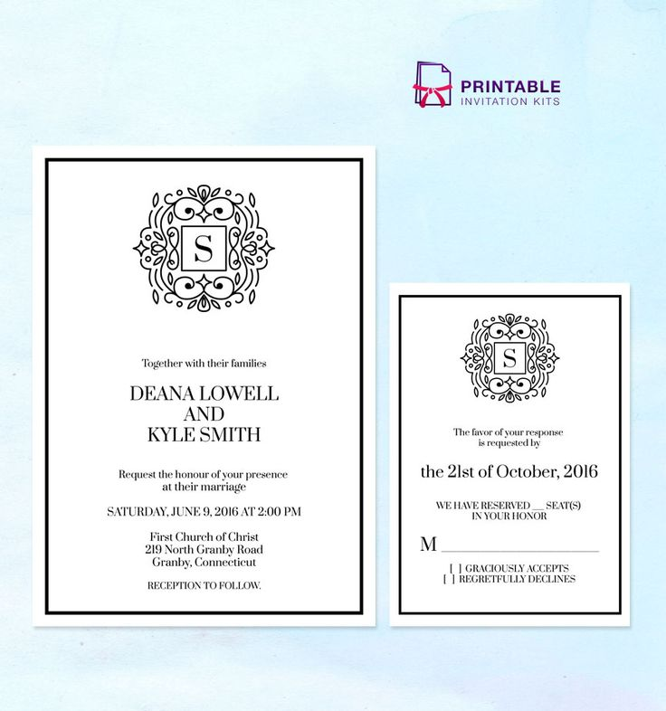 201 best images about Wedding Invitation Templates free on – Templates for Invitations