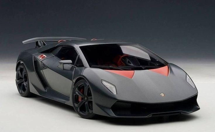Lamborghini Sesto Elemento Gray Carbon Fiber Sample 118 Scale