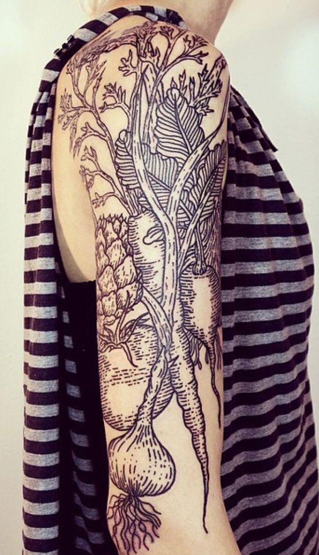 Linework landscape tattoos Lisa Orth