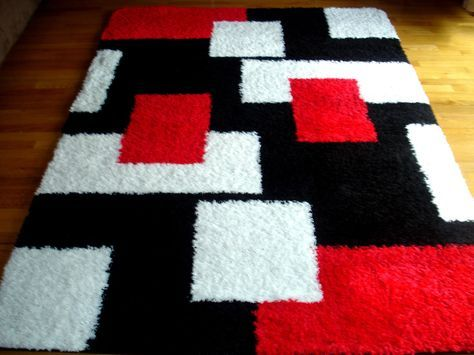 Modern Shag 5x8 Area Rug Carpet New Many Colors | eBay