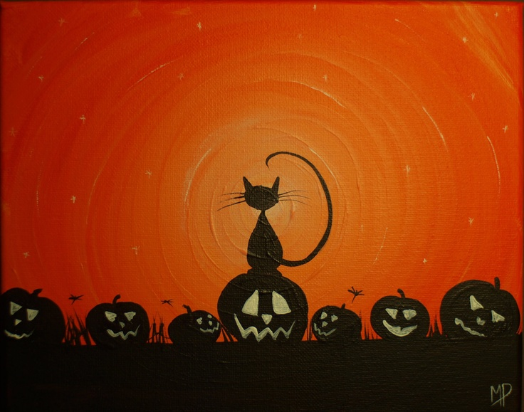 My Pumpkins-  8 x 10, acrylic on canvas, ready to hang, ORIGINAL by Michael H. Prosper. , via Etsy.