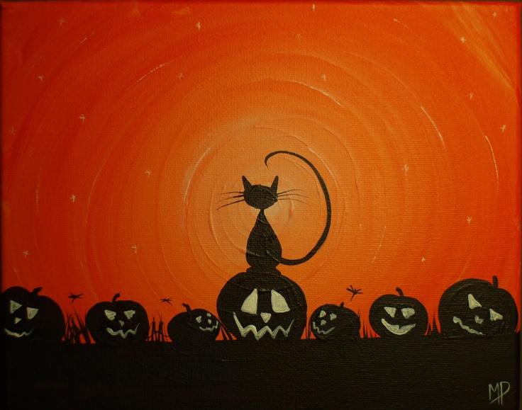 My Pumpkins-  8 x 10, acrylic on canvas, ready to hang, ORIGINAL by Michael H. Prosper. , via Etsy.