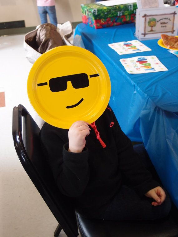 Lego Head Birthday Party Plates by CindysVinylCreations on Etsy, $1.00
