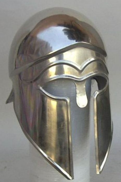 Steel Greek Corinthian Helmet - Medieval Armor Costume