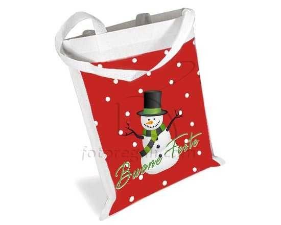 Borsa spesa Natale a pois