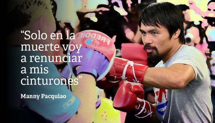 Manny Pacquiao y las 7 frases con las que sabe golpear [Fotos]