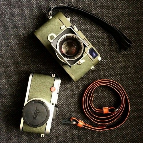 @leicaology's Leica MP and X2, in beautiful olive! #leica...