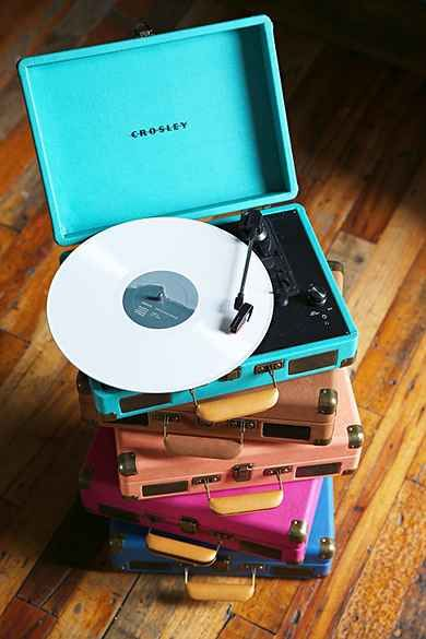 Crosley X UO Cruiser Briefcase Portable Vinyl Record Player...josh and I have been looking at these from Urban Outfitters...they have some really cool colors and patterns