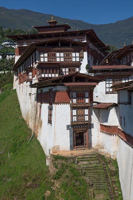 West Gate of Trongsa Dzong by Raphael Bick on Flickr - Nab Chote, Tongsa, Bhutan