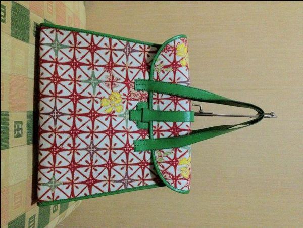 Tas Batik Tulis Kulit Model I