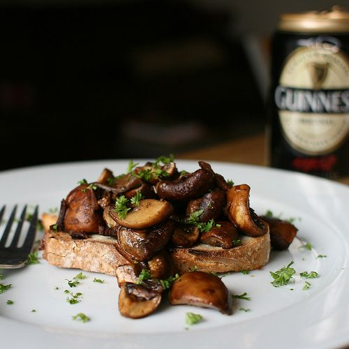 Guinness Mushrooms on Toast for St Patrick's Day - Great British Chefs