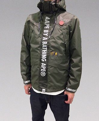 A BATHING APE MEN'S AAPE HOOD Jacket Black / Khaki 2colors Best Buy Japan New #FOLLOWITFINDIT