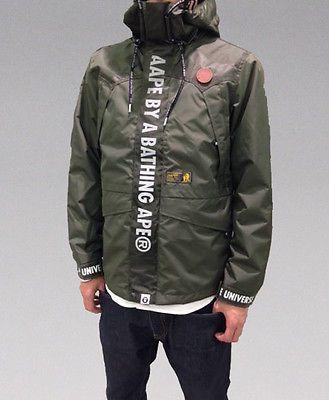 A BATHING APE MEN'S AAPE HOOD Jacket Black / Khaki 2colors Best Buy Japan New #FOLLOWITFINDIT
