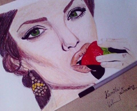 Drawing, art, draw, draws, paper, pencil, crayons, colours, angelinajolie, makeup, love, life, drawingbykamila, cute, sweet, picture, mywork, hobby, myartwork, artwork, blogger, artist