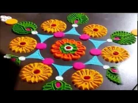 Innovative Daily Rangoli Designs Easy Rangoli Designs by Shital Mahajan. - YouTube