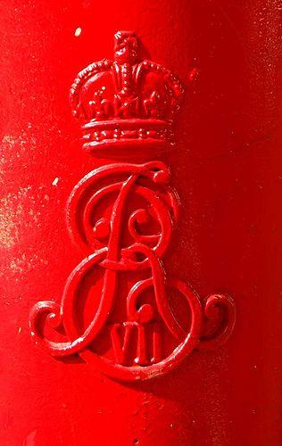 Edward 7 letter box by maggie jones., via Flickr