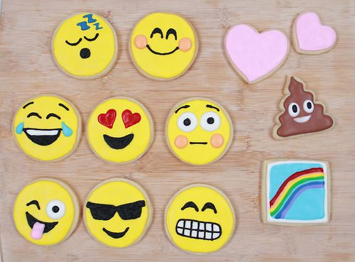 Here are the Emoji Cookies we made on Nerdy Nummies!