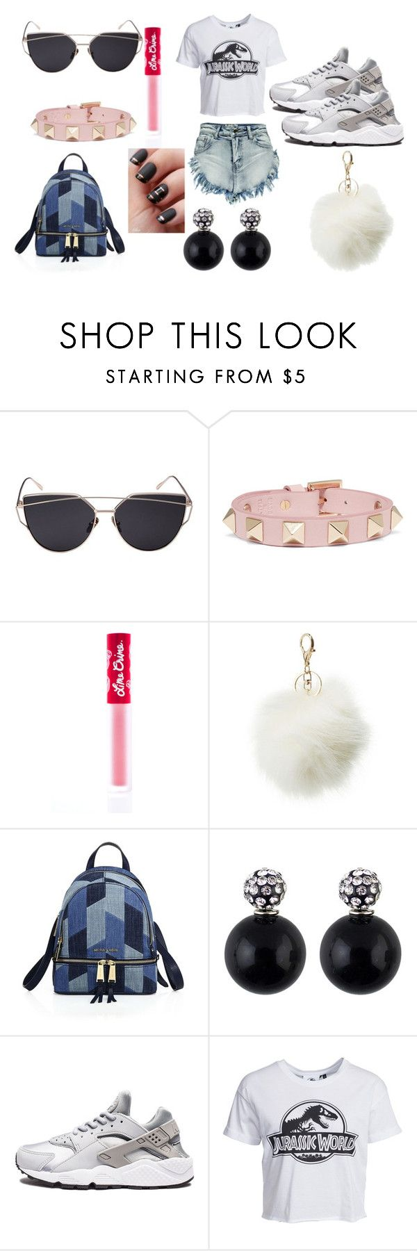 """Jurassic World"" by lmaohashtagfashi on Polyvore featuring Valentino, Lime Crime, Charlotte Russe, MICHAEL Michael Kors, NIKE, New Look and Boohoo"