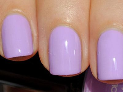 "Light purple nails; saw the prettiest OPI color ""Do You Lilac It?"" 