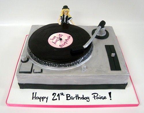 Lp Record Player Cake Taarten En Andere Baksels