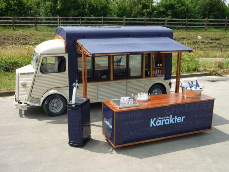 Karakter - Cafe op Wielen. Huur deze mobiele bar, een Citroen HY uit 1965.