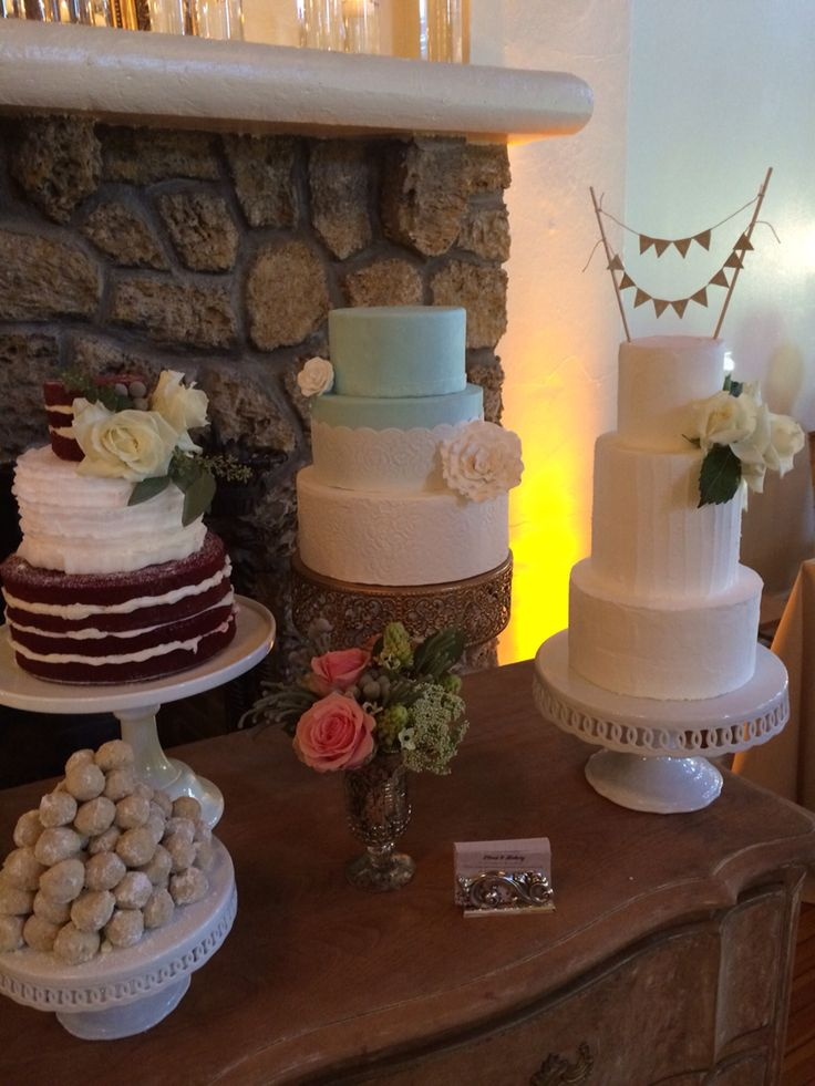 Red Velvet Wedding Cake With Ercream Ruffles Blue Fondant And Lace Vintage Double Barrel Cakes By Cloud 9 Bakery In Miami Fl