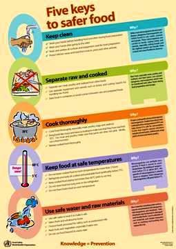 Food Safety Temperature Poster | ... Alliance - WHO launches new campaign: five keys to safer food