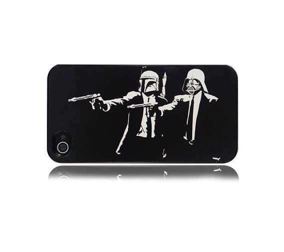 iPhone 4 4s and 5 5s Boba Fett & Darth Vader Pulp Fiction Hard Case Cover