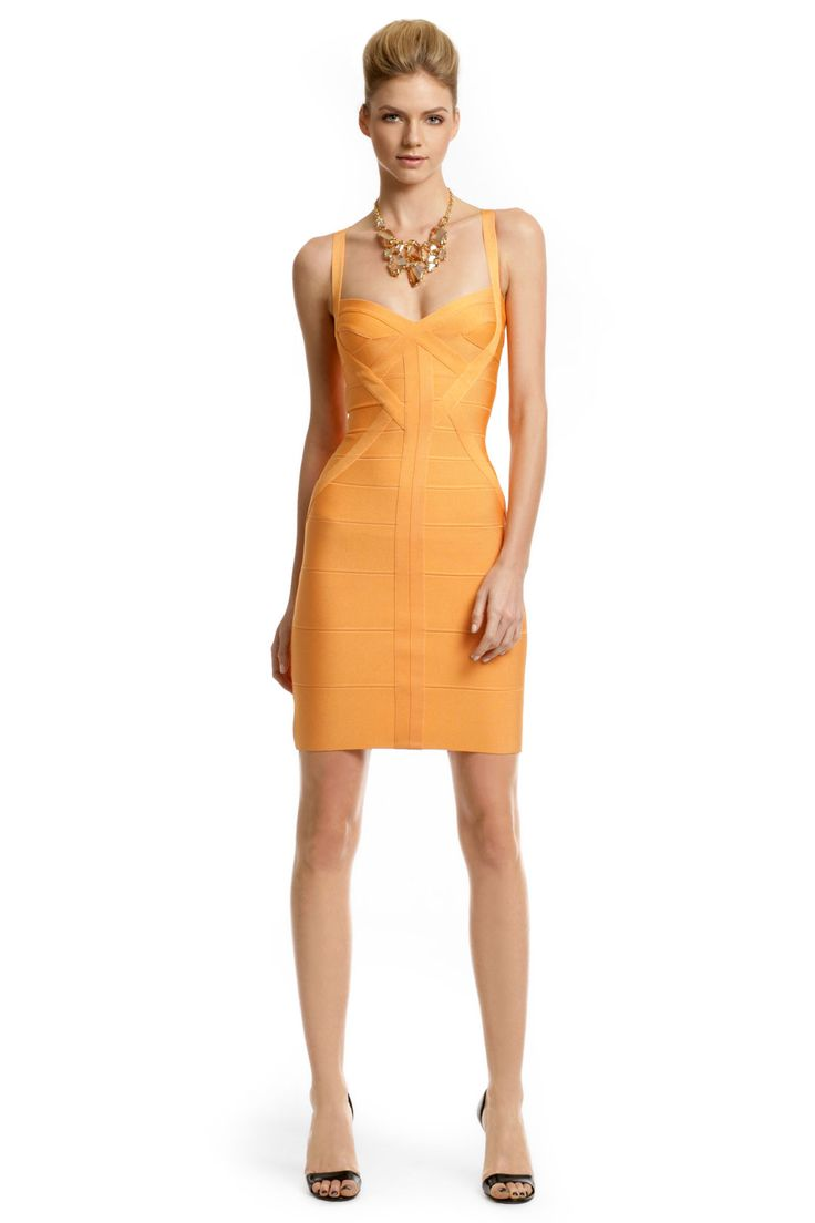 Herve Leger tangerine Dress