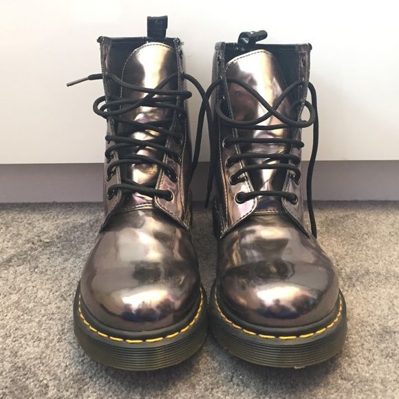 RARE•NEW•FINALDROP original metallic Dr. Martens OFFER OFFER OFFER OFFER The one and only DOCS. Absolutely love them but they are slightly too big on me so they've just been sitting in my closet and need a new home!!                                                                                       Tags: boho chic trendy sale clearance deal follow game uggs black pink kors trend fringe bralette boots Buddha yoga leggings Nike Dr. Martens Shoes