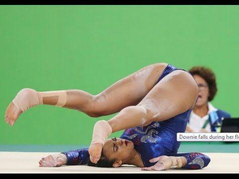 Ellie Downie Fall Rio 2016 Neck Broken Injury Horror Moment Olympics NEW...