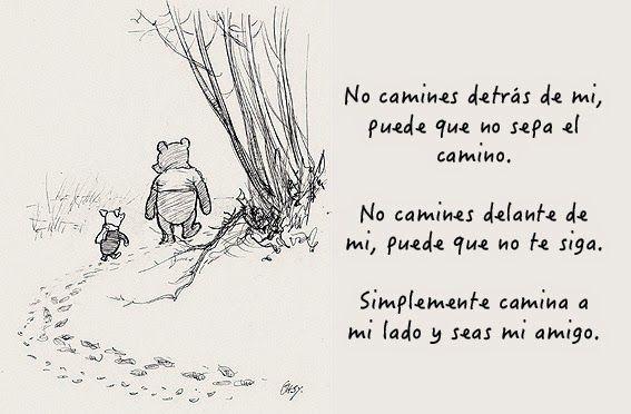 ekeyart: ¿Qué es la amistad? Una ilustración de Winny the Pooh con una frase de Albert Camus...