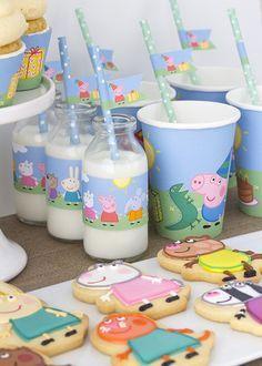 Peppa & George Pig Birthday Party via Kara's Party Ideas   KarasPartyIdeas.com #peppapigparty (10)