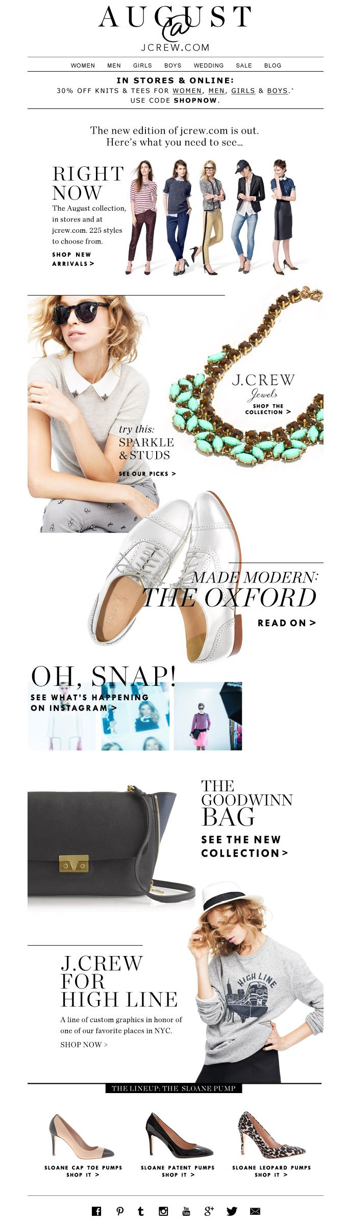 #newsletter J.Crew 08.2013 Subject: The August edition: what's new at jcrew.com