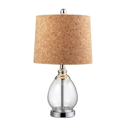 Clear Glass Table Lamp in Polished Chrome - D142