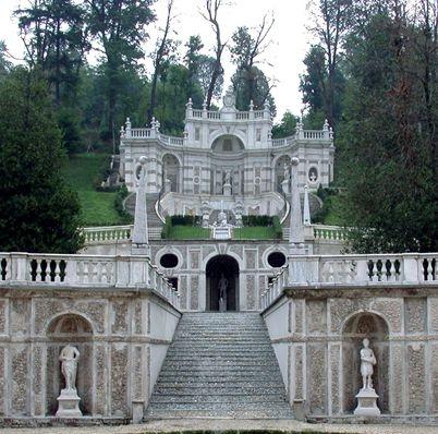 Torino, Villa della Regina, giardino all'italiana