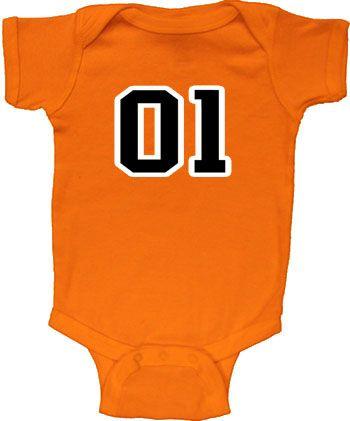 Dukes of Hazzard 01 General Lee Baby Infant Romper Onesie $14.95