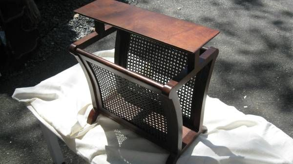 Solid Walnut Magazine Or Newspaper Rack W Seat On Top With Images Solid Walnut Top Furniture Seating