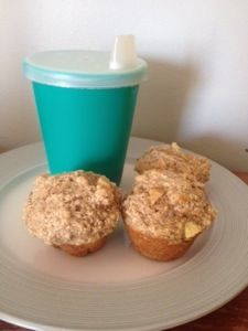 Baby Apple Muffins - Uses infant oatmeal (baby cereal) and so yummy that everyone in the family likes them.