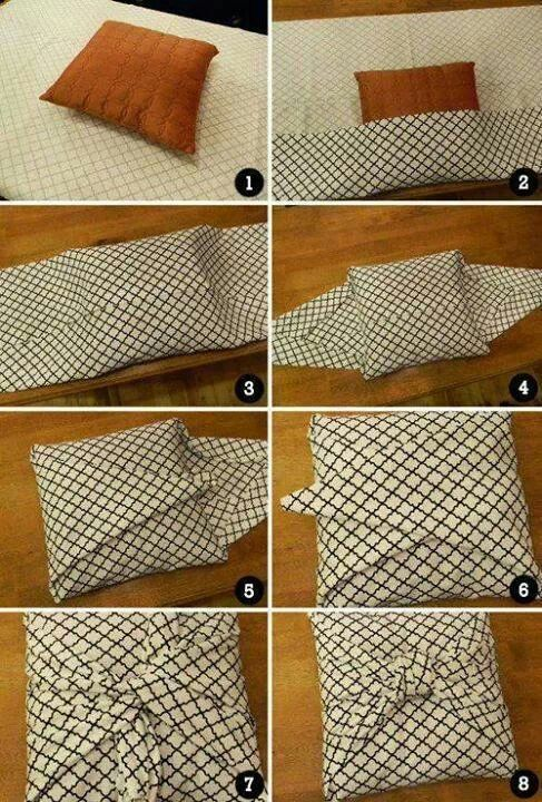 No sew pillow cover DIY tips Pinterest Bags, Pillow covers and No sew pillow covers