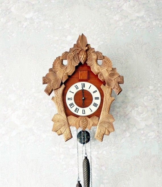 beautiful cuckoo clock. I've wanted one FOREVER.