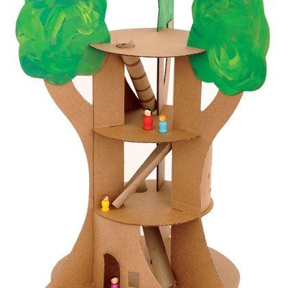 DIY Recylced Cardboard Tree House!