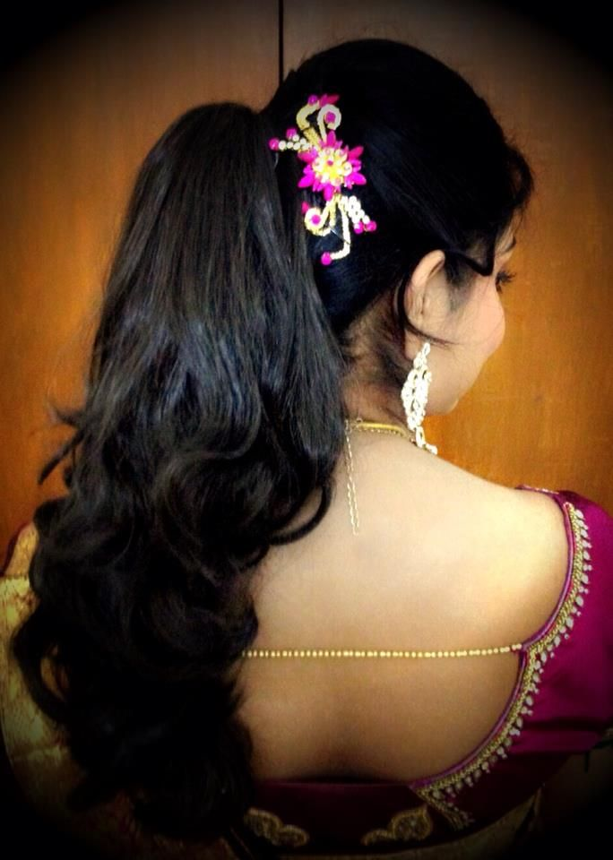 #South #Indian #bridal #hairstyle | Indian bridal ...